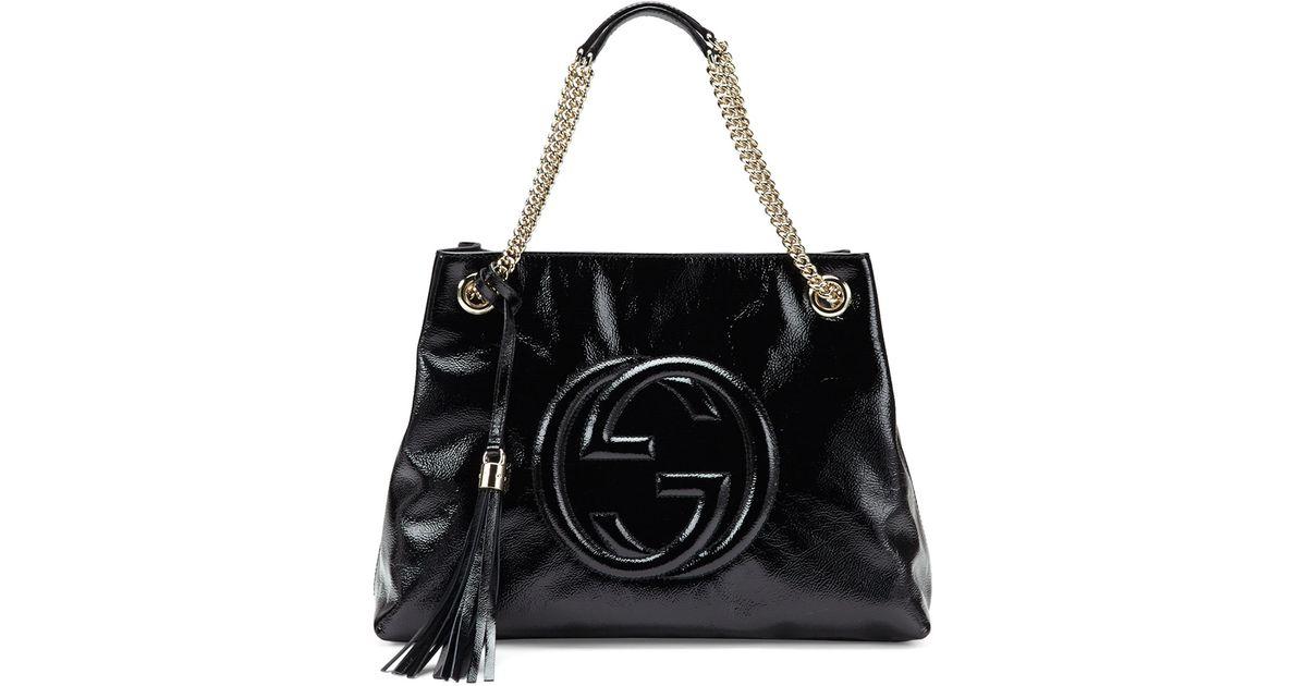 Black patent leather shoulder bag 4tqXngq