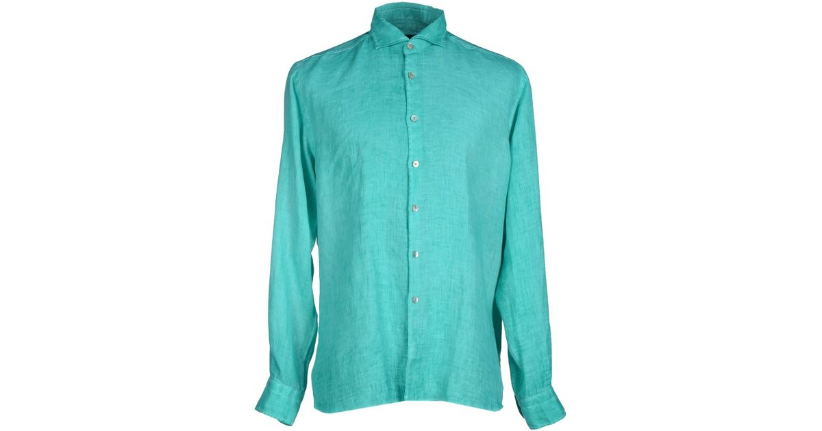 Dickson shirt in green for men emerald green save 11 Emerald green mens dress shirt