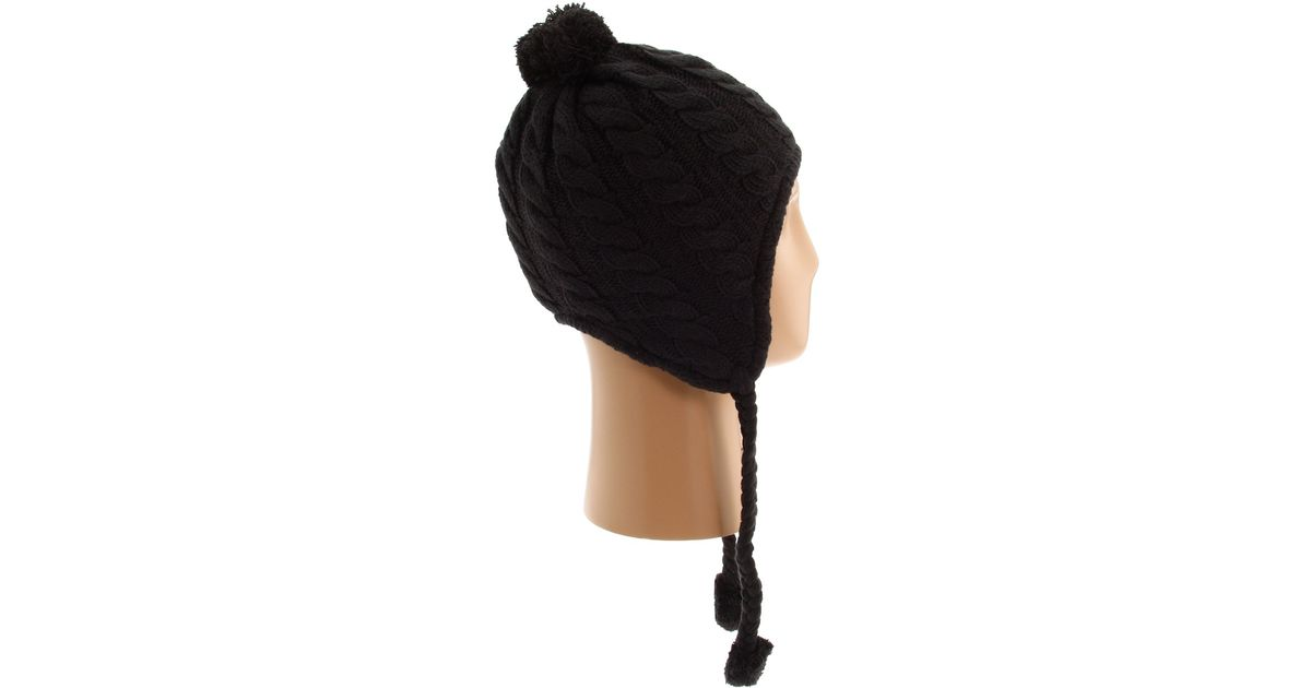 ca5cfcd9497 ... Lyst - The North Face Fuzzy Earflap Beanie in Black ...