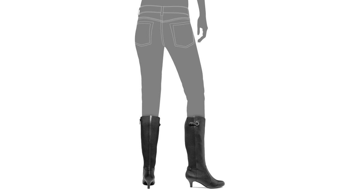 e7062af00ad3 Lyst - Anne Klein Abebe Dress Stretch Back Boots in Black