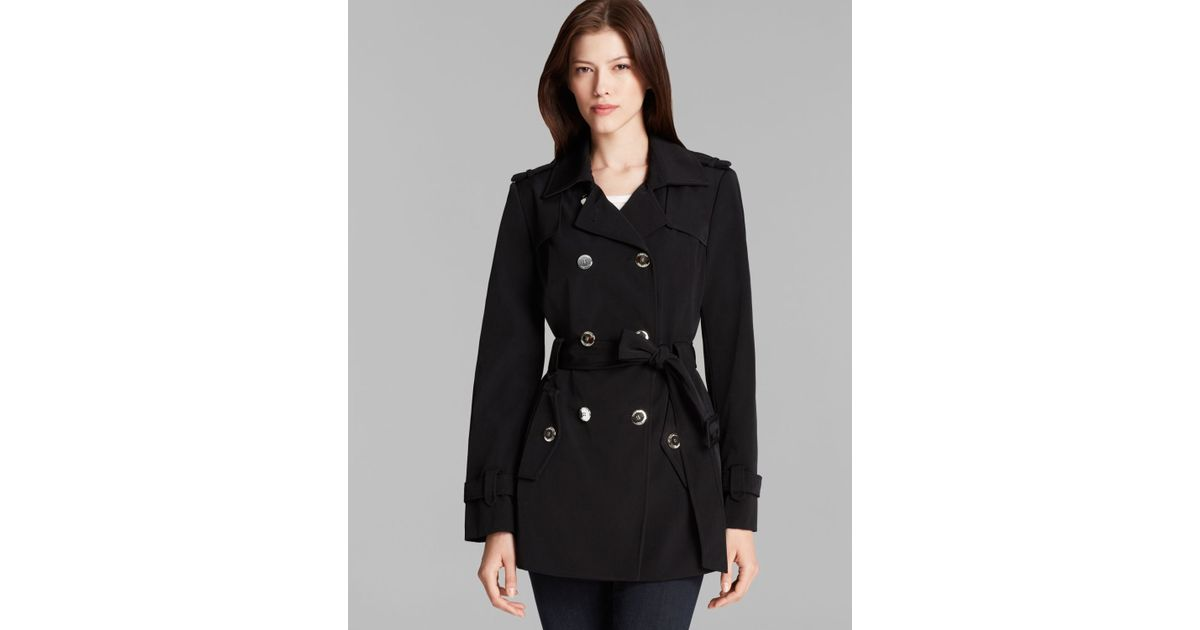79809610ff2 Calvin Klein - Black Trench Coat - Double Breasted Belted - Lyst