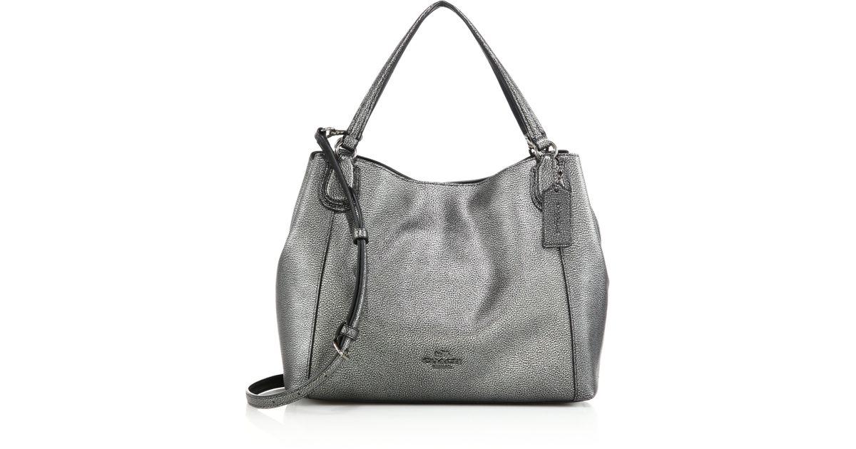 Silver leather shoulder bag 1GoAl04uG