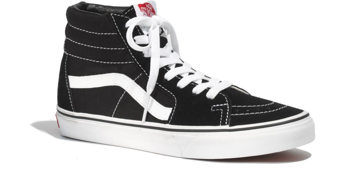 9f72a23dde52 Lyst - Madewell Vans Reg  Classic Sk8-Hi High-Tops In Canvas in Black