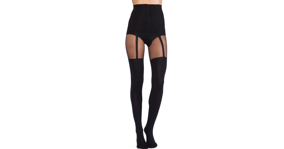 133e394eda5 Lyst - Pretty Polly Shape It Up Suspender Tummy Shaper Tight in Black