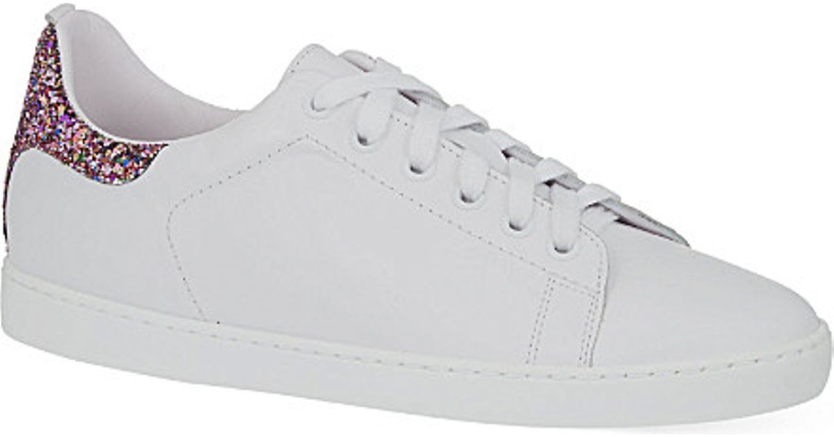 Maje Glitter Trainers - For Women in White - Lyst 977cf0be82