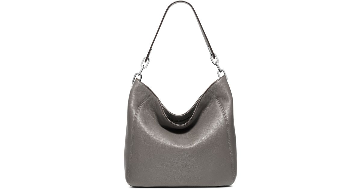 0db0dc34b469 ... promo code for lyst michael kors fulton medium leather shoulder bag in  gray a3090 f9047