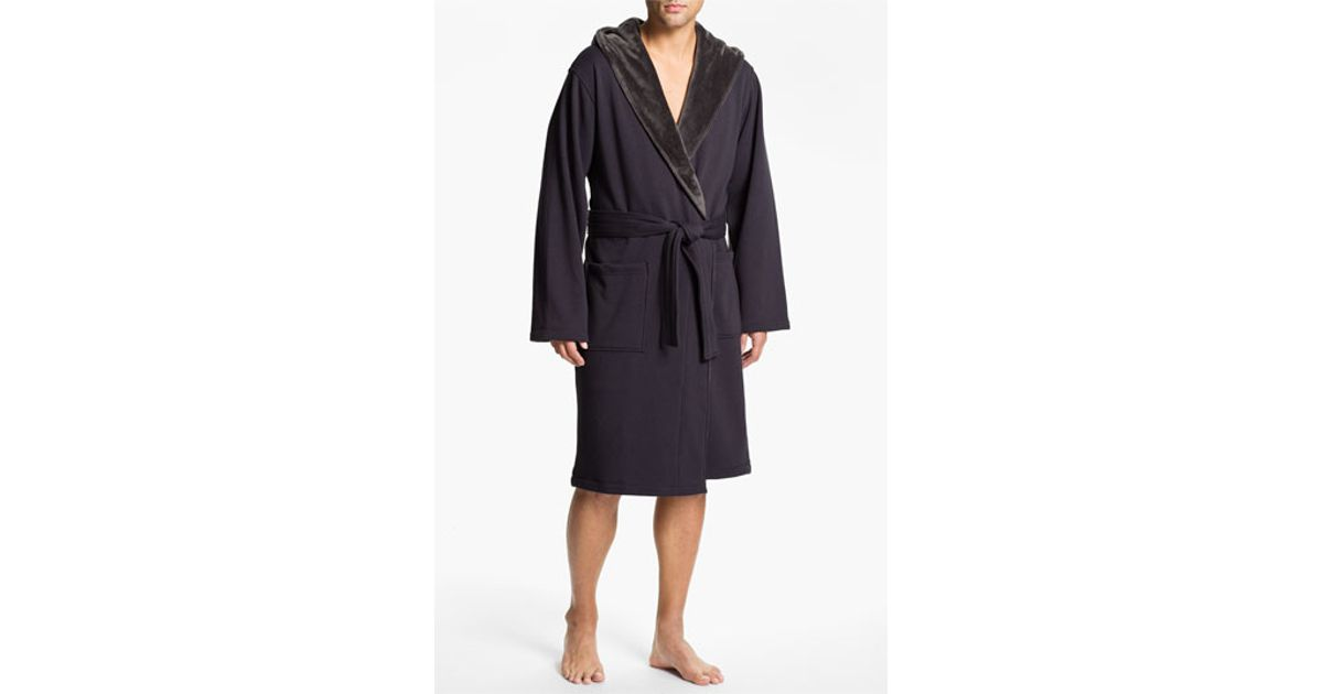 36627f8d275 UGG - Gray Ugg 'brunswick' Robe for Men - Lyst