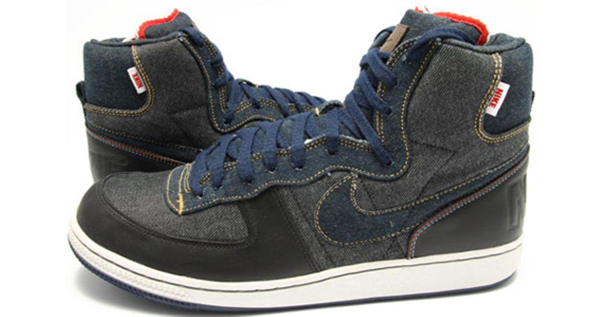 Lyst - Nike Terminator High Premium Selvage Denim in Black b40740025e