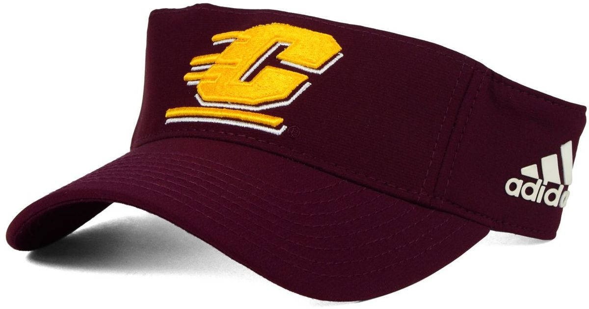 Lyst - adidas Central Michigan Chippewas Coaches Visor in Purple for Men 01201324daa