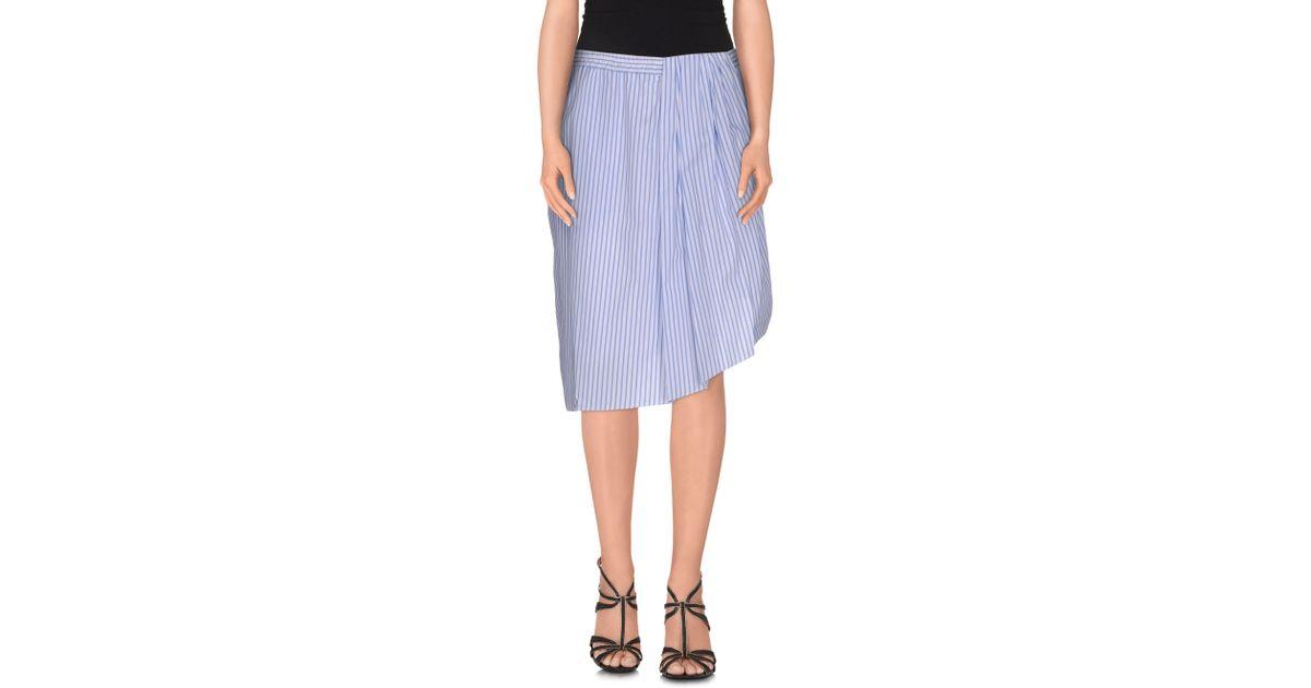 fwss knee length skirt in blue lyst