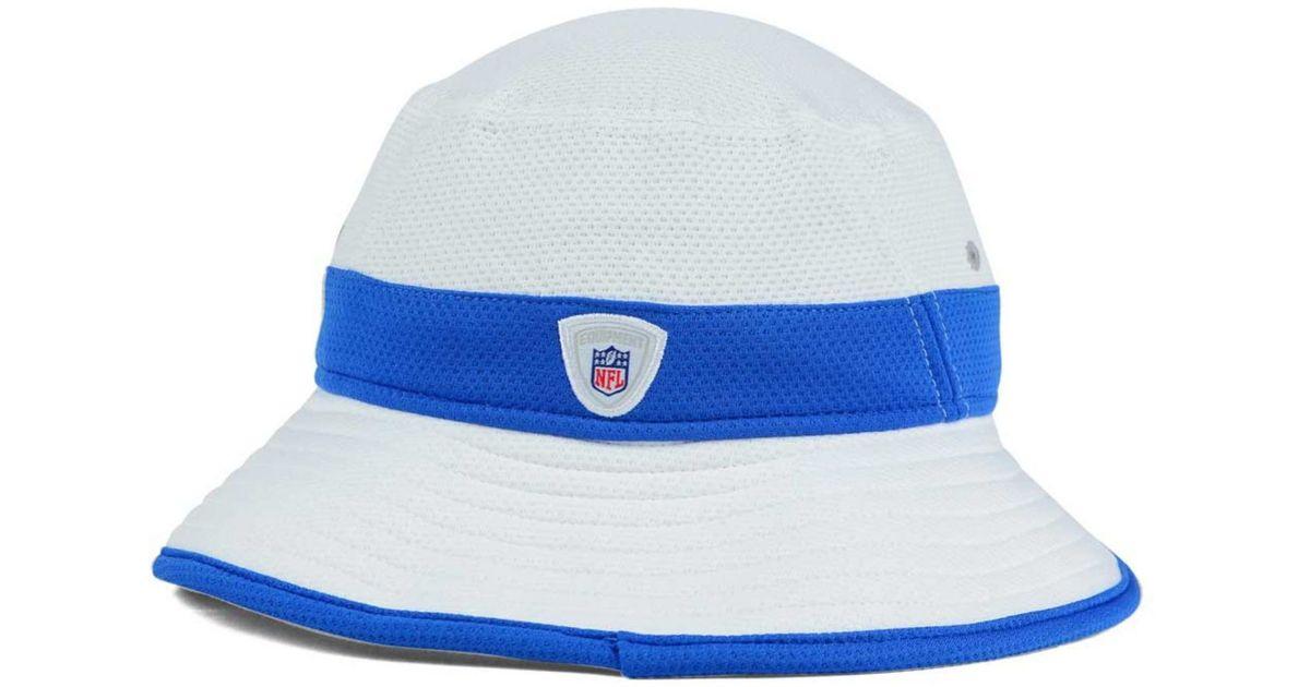 release date: 0b76c 8ed88 Lyst - KTZ Detroit Lions Training Camp Official Bucket Hat in Blue for Men