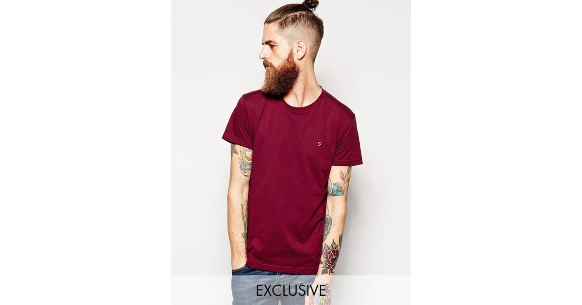 a1c31ae85aa Lyst - Farah T-shirt With F Logo In Slim Fit Exclusive in Red for Men