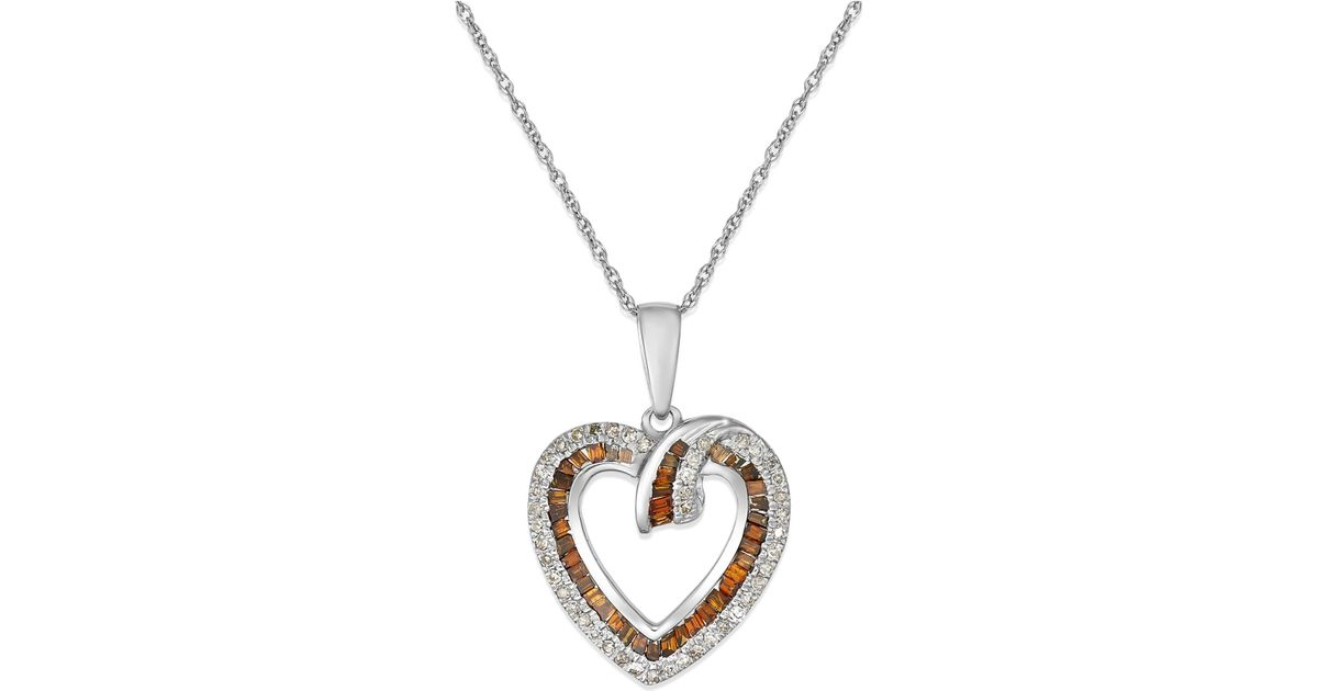 macys white and red diamond heart pendant necklace 38
