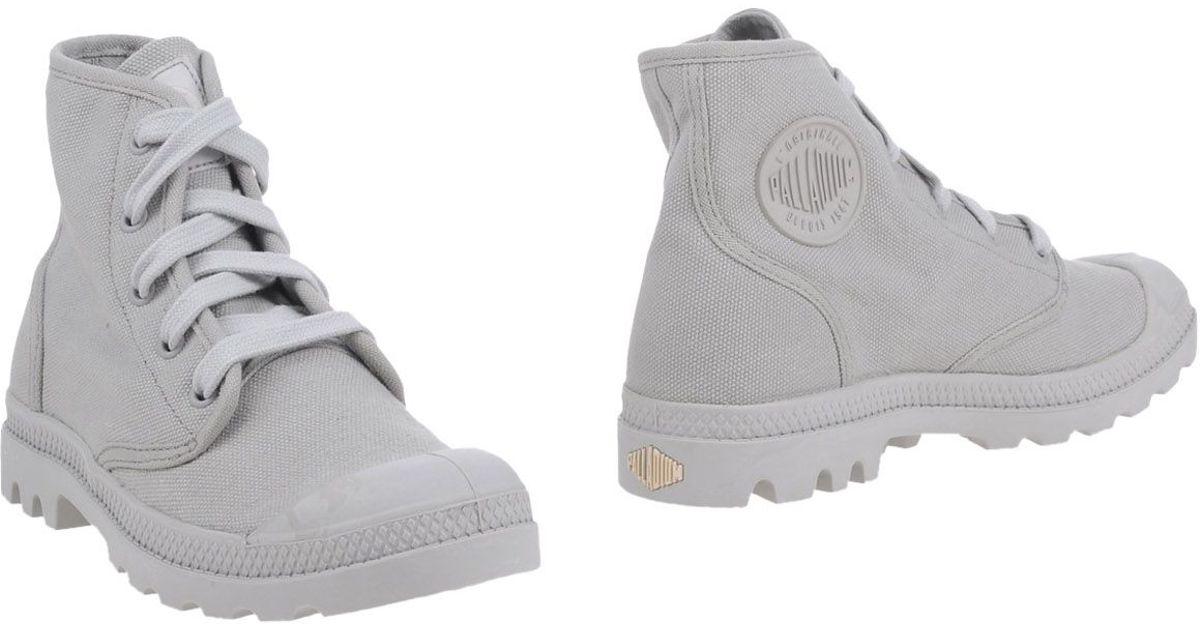 Unique Palladium Ankle Boots In Gray For Men Light Grey  Save 54  Lyst
