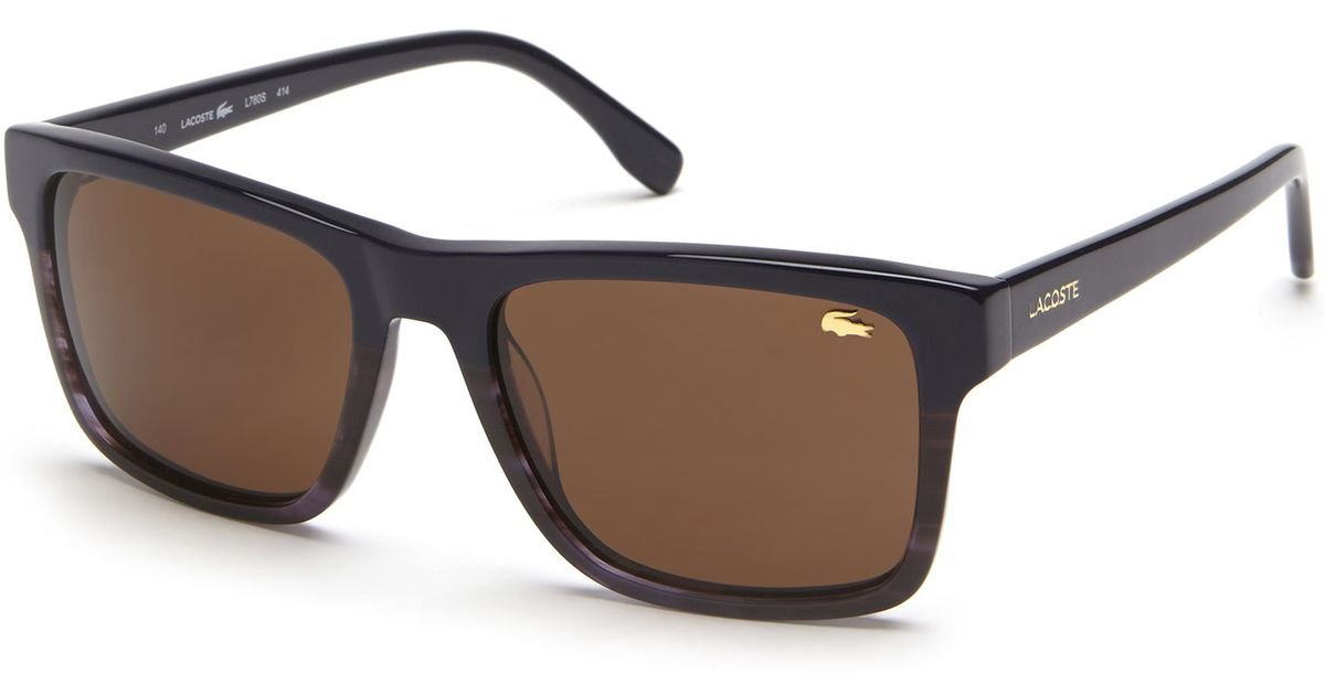 50052419e2 Lyst - Lacoste Navy Ombrã© L780S Wayfarer Sunglasses in Brown