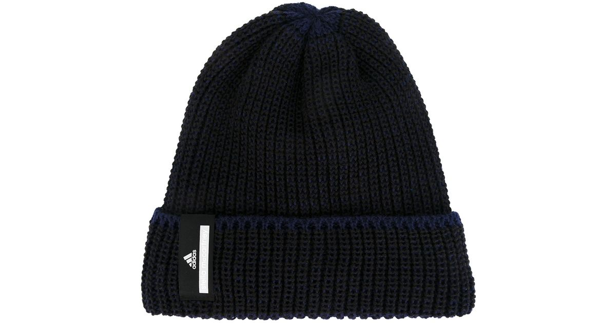 Lyst - adidas By Stella McCartney Two Tones Ski Hat in Black for Men 97c5904e215