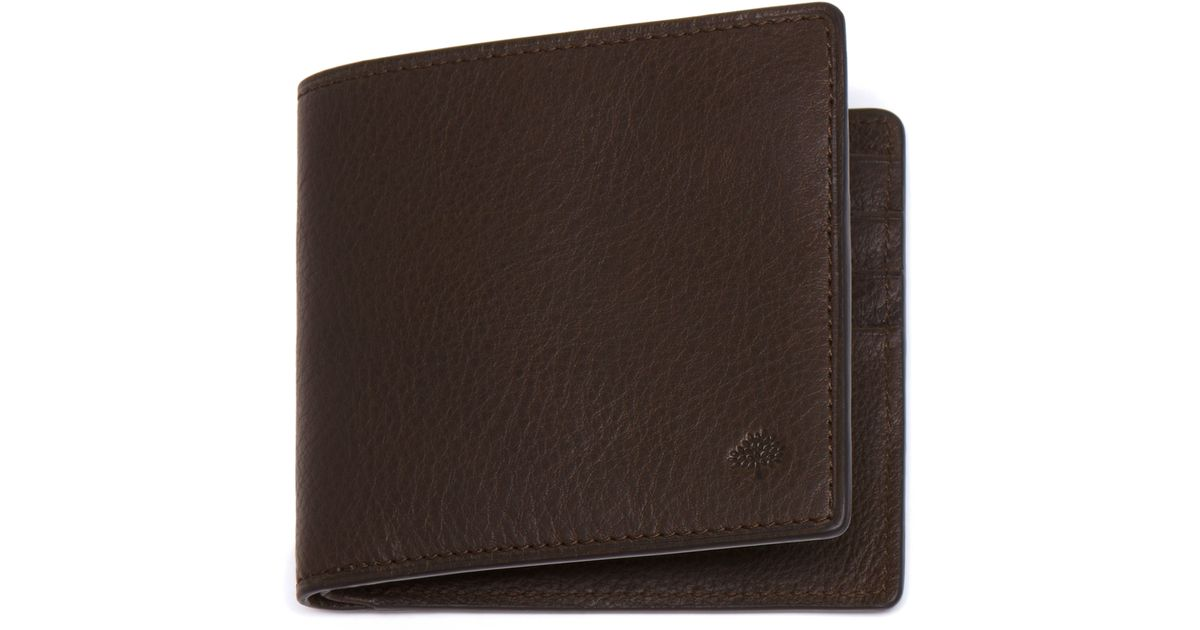 486539ec62 ... sale lyst mulberry slim 6 card wallet in brown for men e6868 ba942