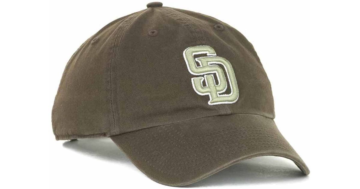 8b61d3199483c Lyst - 47 Brand San Diego Padres Clean Up Hat in Natural for Men