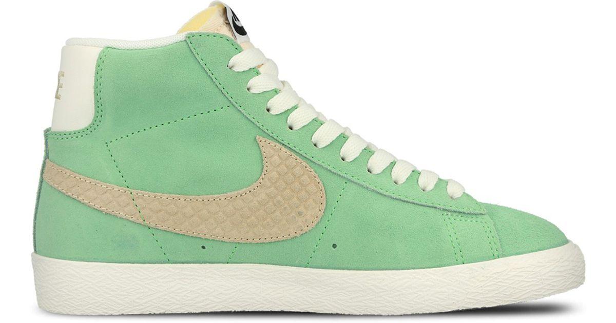 super popular best authentic on feet shots of nike blazer mint green