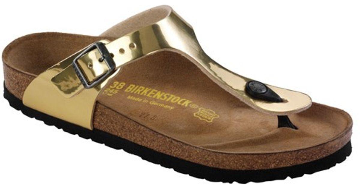 birkenstock gizeh gold steel