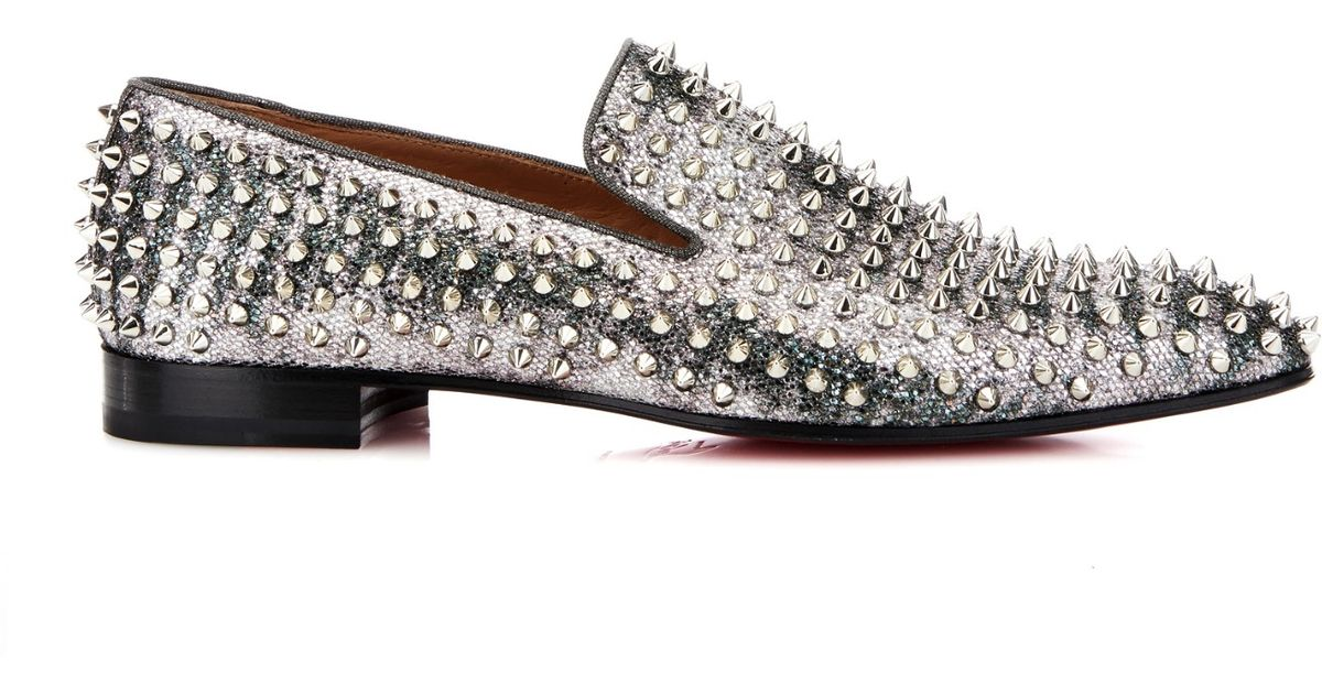 purchase online sale outlet Christian Louboutin Metallic Leather Loafers outlet locations online v5WXz
