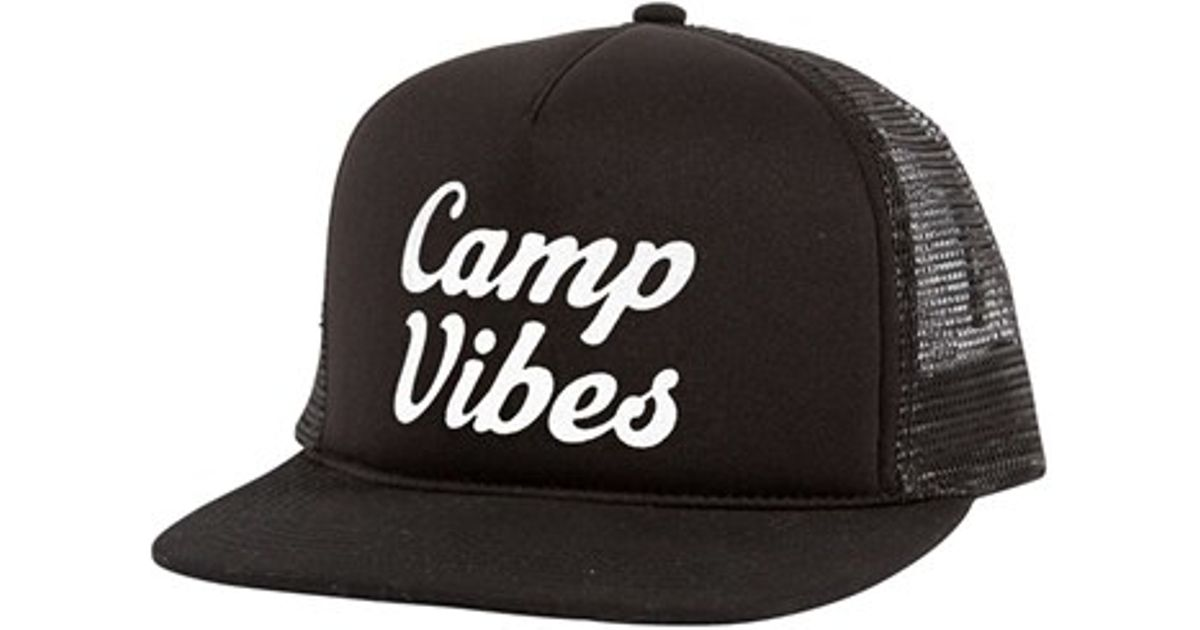 Lyst - Poler Stuff  camp Vibes  Trucker Hat in Black for Men 34cc4a2182a