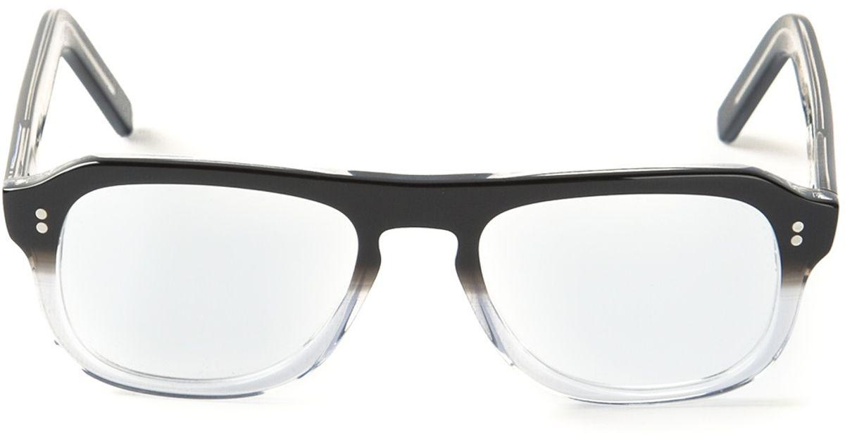 Lyst - Cutler & Gross Rectangle Frame Glasses in Black for Men