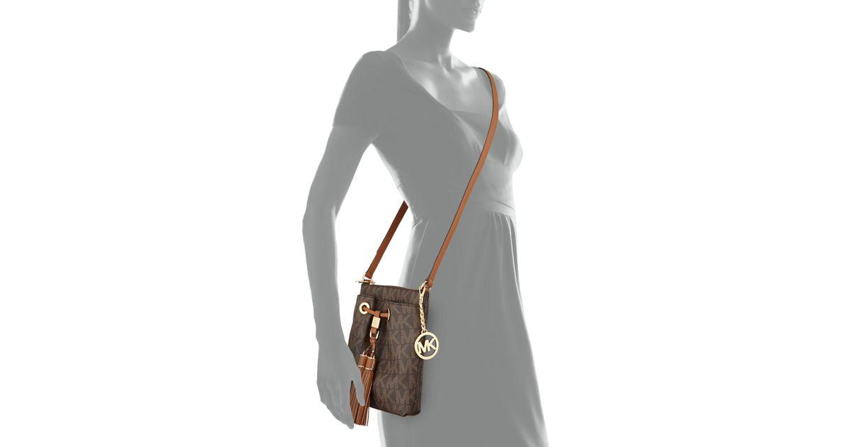 cde1ce5ab930 Lyst - MICHAEL Michael Kors Camden Logo Crossbody Bag in Brown