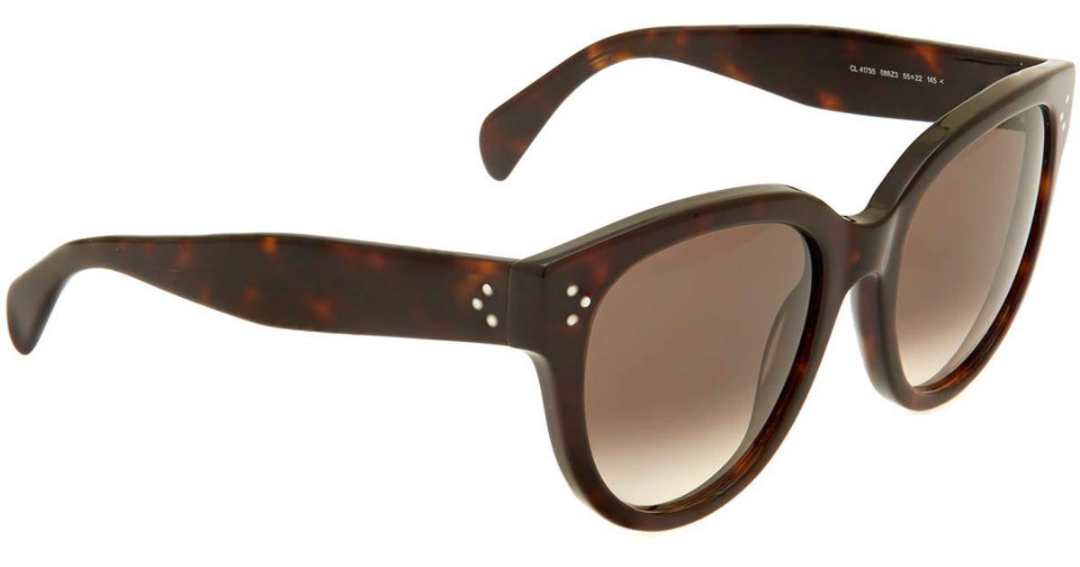 d612da27140 Women s Brown New Audrey Sunglasses. cool Celine 41022 S Sunglasses-005L  Havana (1E Green Lens)-54mm