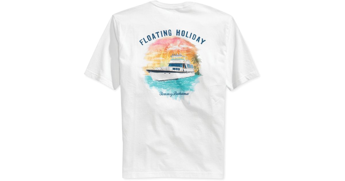 Tommy Bahama Floating Holiday T Shirt In White For Men Lyst