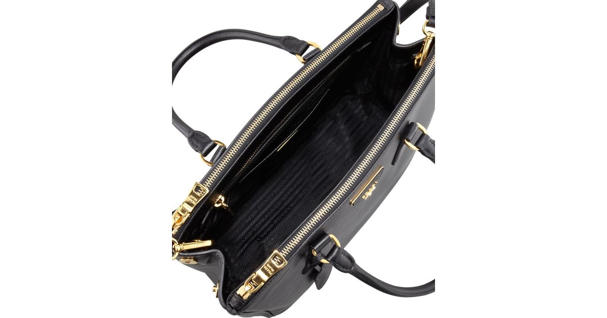 replica prada wallet - Prada Saffiano Double-Zip Executive Tote Bag in Black (BLACK(NERO ...