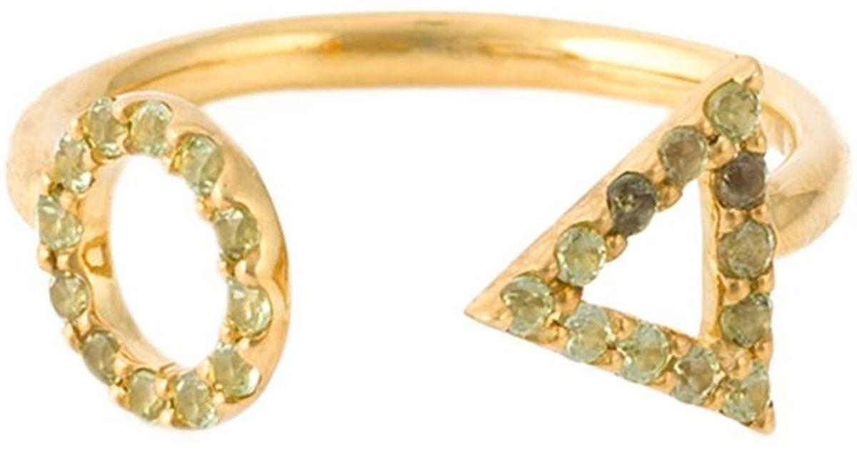 Eshvi diamond encrusted 18kt gold ring - Metallic WbraQ