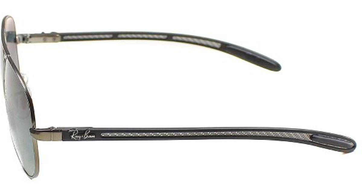 354b21c0b40 ... reduced lyst ray ban rb 8307 029 71 matte gunmetal aviator carbon fibre  sunglasses 58mm in good shop ...