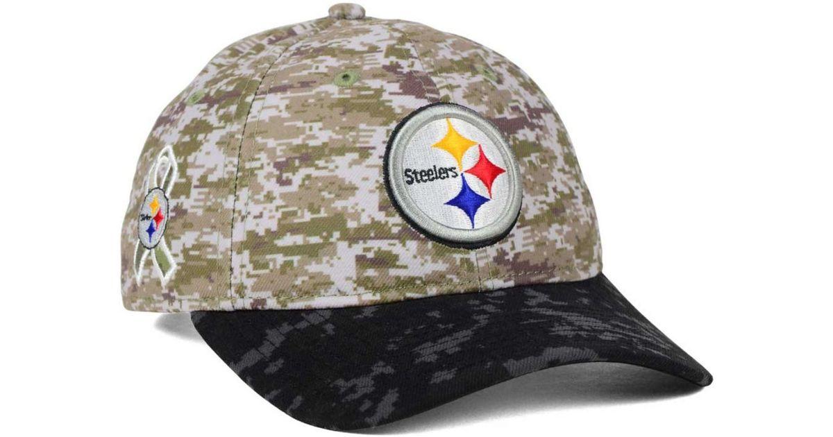 Lyst - Ktz Women s Pittsburgh Steelers Salute To Service 9twenty Cap in  Green for Men 19ca44585