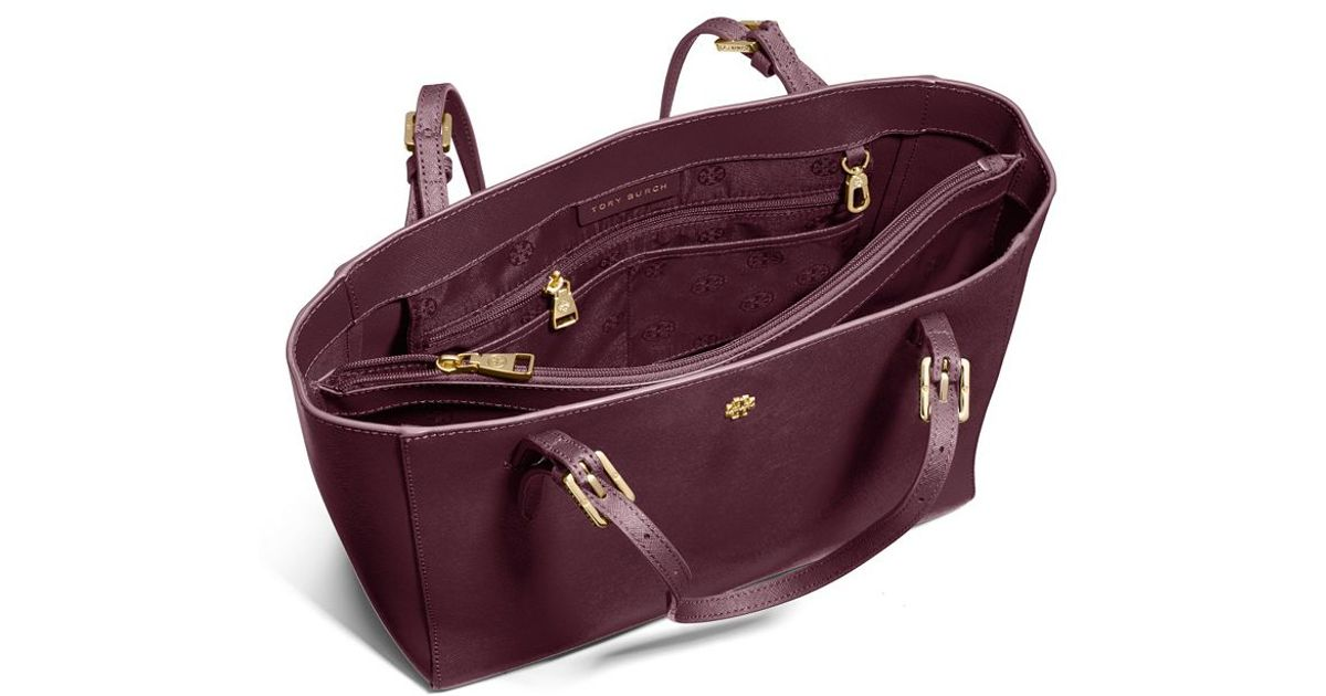 95cc5bc5acb Lyst - Tory Burch York Small Buckle Tote in Purple