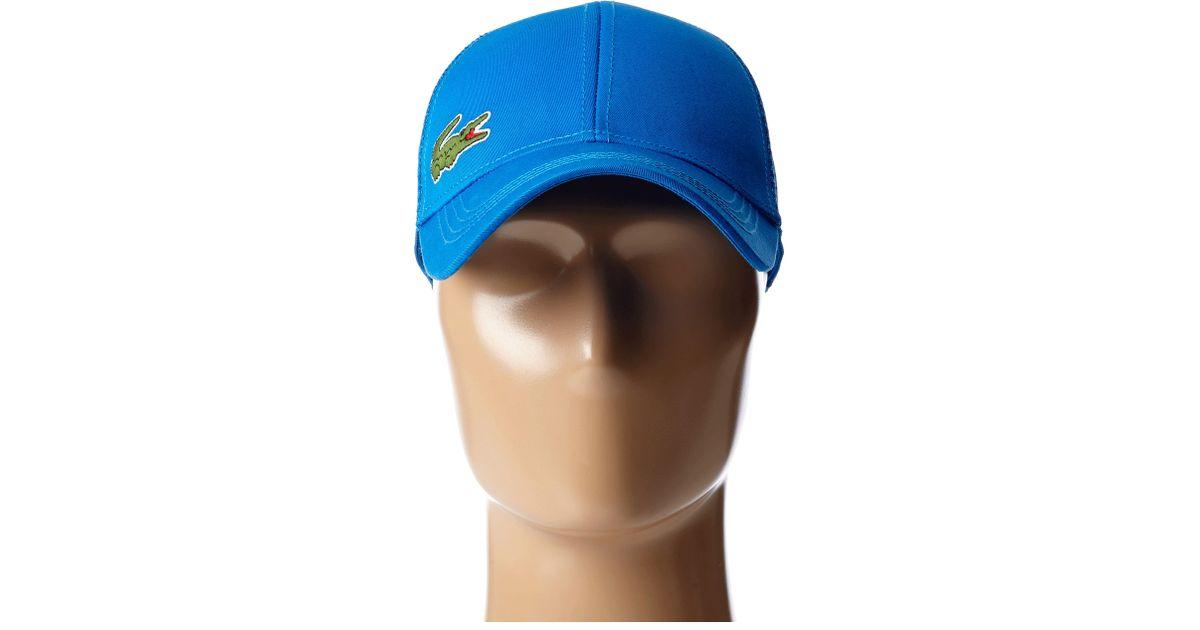 1236bfebea2c Lyst - Lacoste Classic 5cm Croc Trucker Hat in Blue for Men