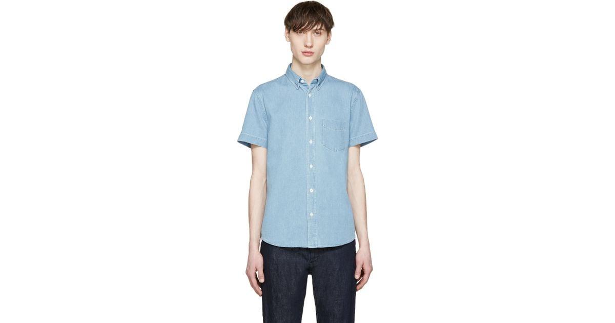 f6dba804da Lyst - Acne Studios Blue Denim Superbleach Isherwood Shirt in Blue for Men