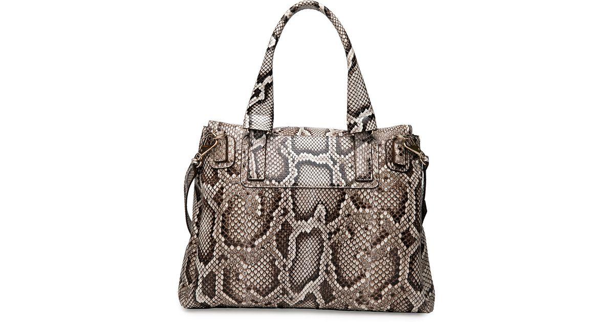 991c85beeb Lyst - Givenchy Pandora Pure Small Python Satchel Bag in Natural
