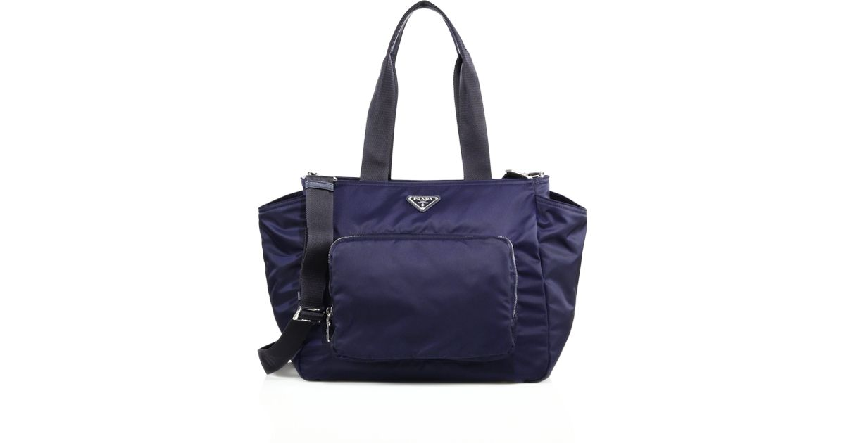Prada Nylon Diaper Bag in Blue (baltico navy) | Lyst