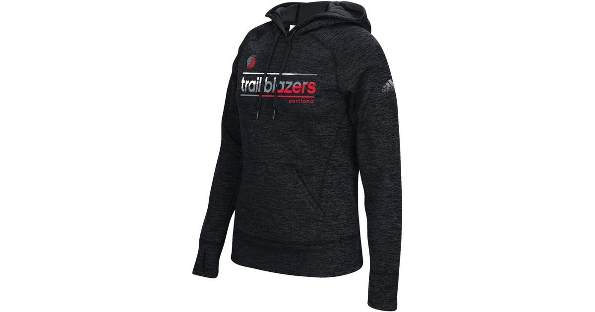 Lyst - Adidas Originals Women's Portland Trail Blazers Color Slant Hoodie  in Black