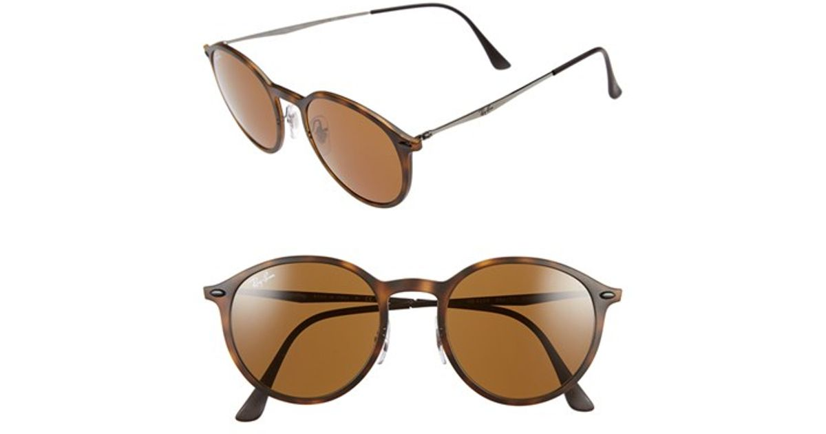 cd9752ae97d ... amazon lyst ray ban tech light ray 49mm sunglasses havana in brown  98117 5c4c7