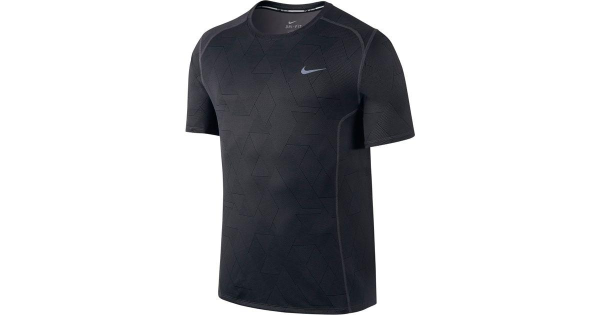 d856cfc4 Nike Men's Dri-fit Miler Optical Run Short-sleeve Running Shirt in Black  for Men - Lyst