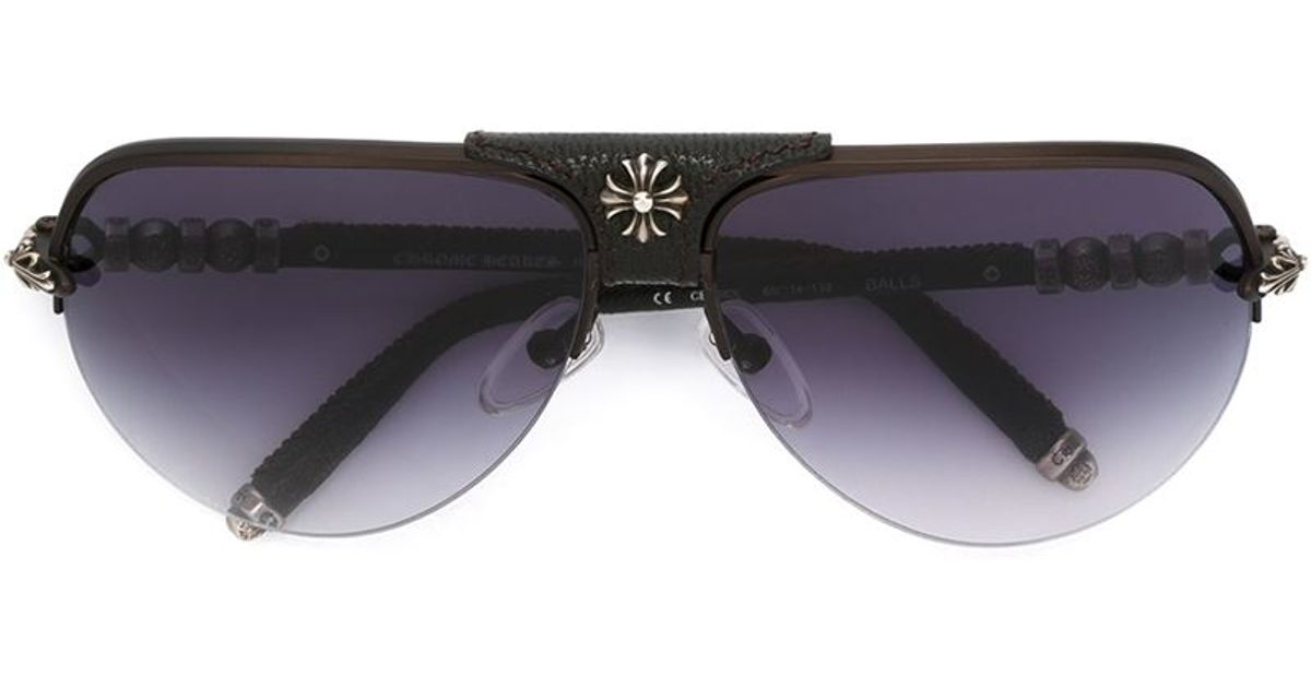 93b3631dcac4 Lyst - Chrome Hearts  balls  Sunglasses in Black