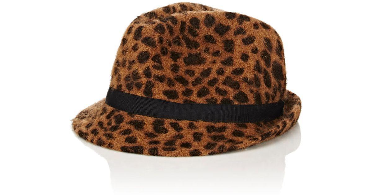 1e14cc4c7b2ed Hat Attack Women s Leopard-print Fedora - Lyst
