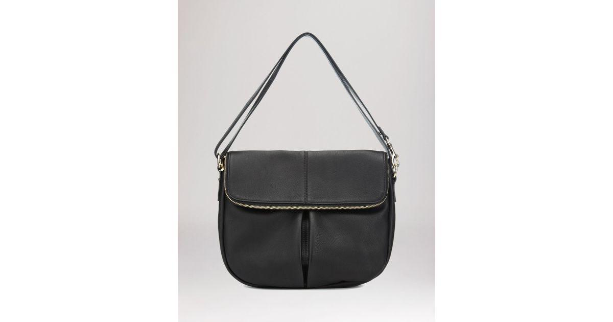 9d7bd6e324 Lyst - Whistles Shoulder Bag - Duffy Zip Front in Black