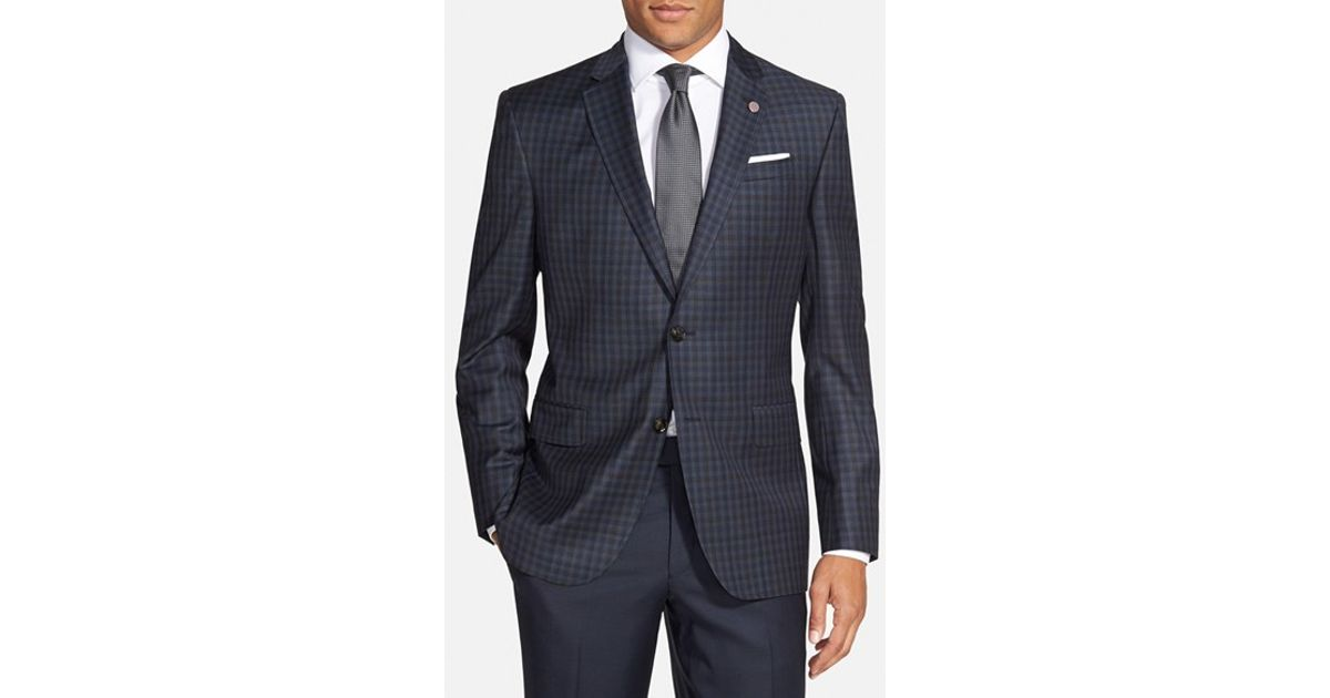 f8c09a2813d3 Lyst - Ted Baker  jay  Trim Fit Check Wool Sport Coat in Blue for Men