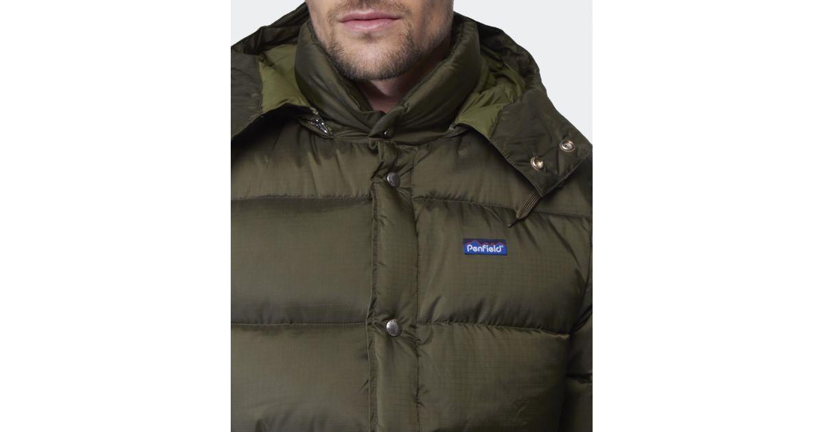 Penfield Bowersbridge Puffa Jacket in Green for Men | Lyst