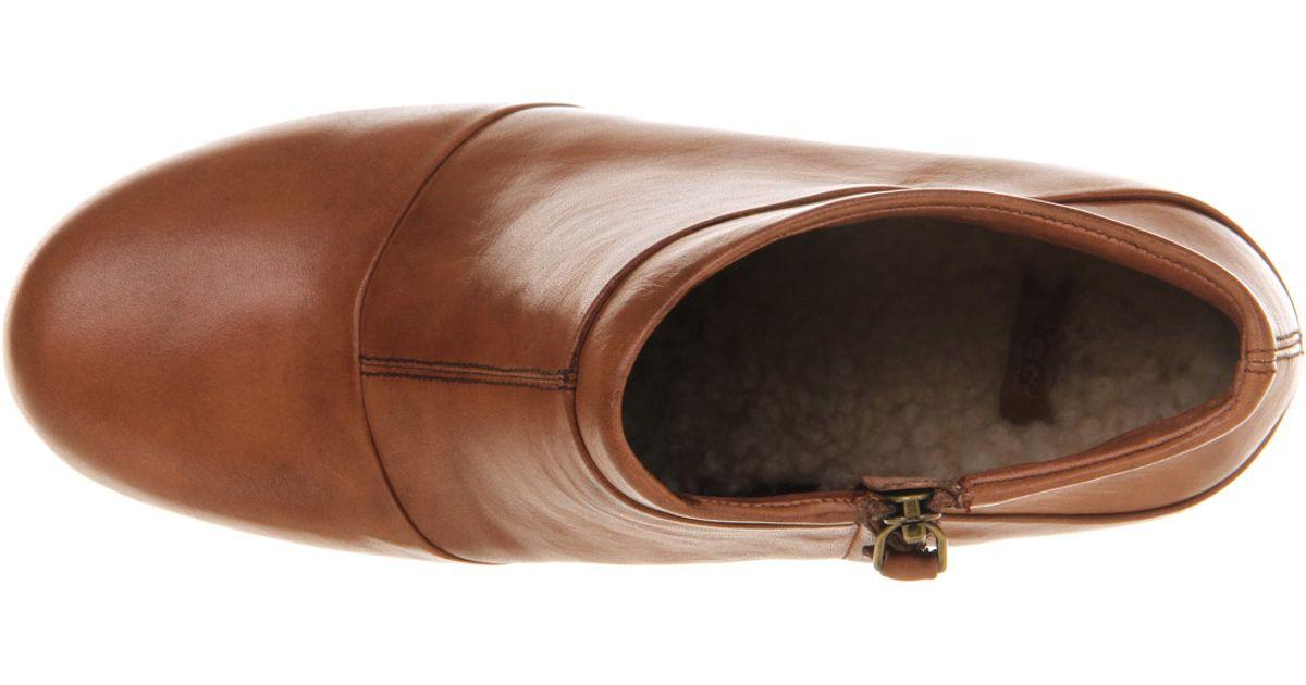 ugg australia carmine wedge boot chestnut leather