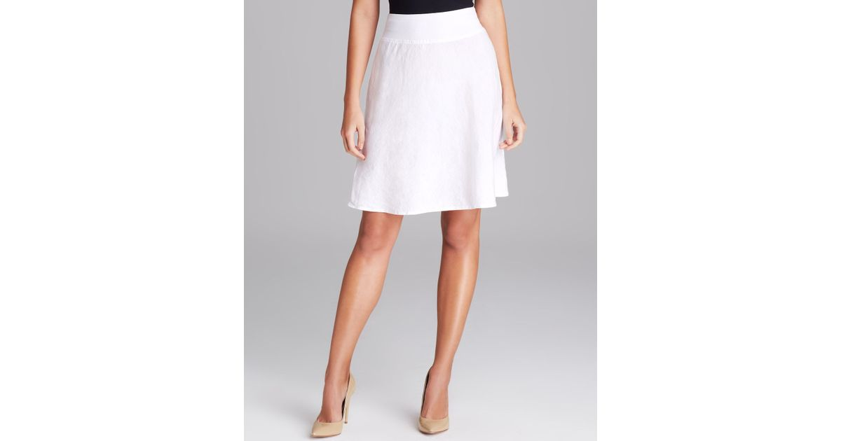 Favorite Lyst - Three Dots Linen Skirt in White NG31