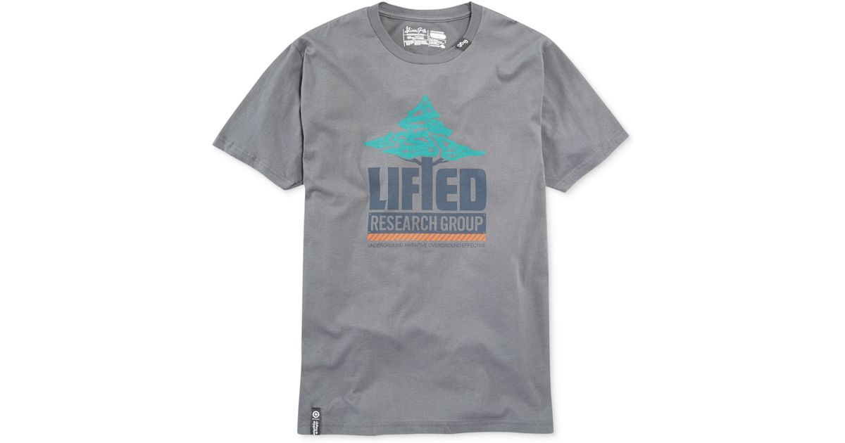 9bbf8cb19d95c Lyst - Lrg Lifted Research Group T-Shirt in Gray for Men